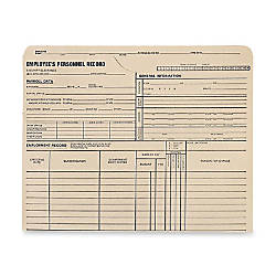 Quality Park Employees Personnel Record Files