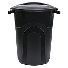 United Solutions Outdoor Round Polypropylene Trash
