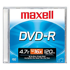 Maxell DVD Recordable Media DVD R