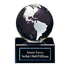 Crystal Globe Award 3 18 x