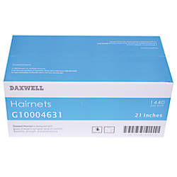 Daxwell Nylon Hairnets 21 Black 144