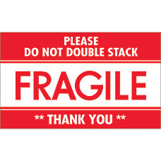 Tape Logic Preprinted Labels Fragile Do