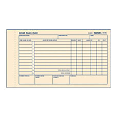 Rediform Daily Time Clock Card Pads