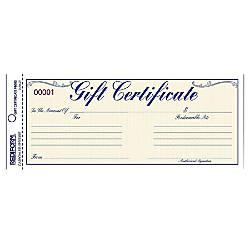 Rediform Gift Certificates w Envelopes 850
