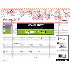 AT A GLANCE Blush Monthly Wall