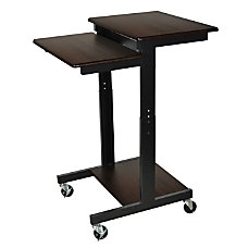 Luxor Adjustable Height Computer Workstation Walnut