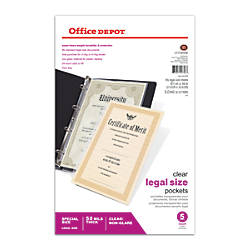 Office Depot Brand Legal Sheet Protectors