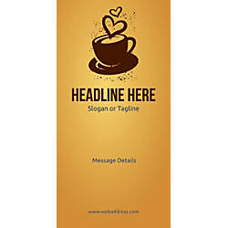 Custom Vertical Banner Love For Coffee
