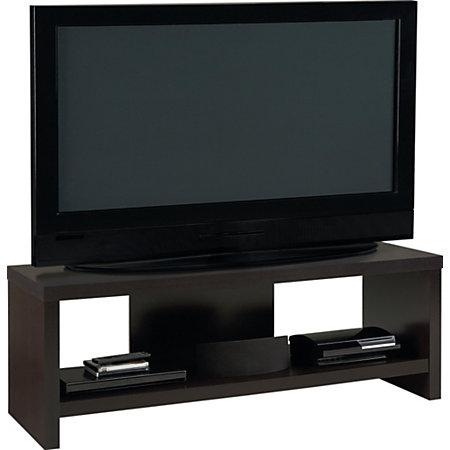 ameriwood tv stand for 60 tvs 21 23 h x 59 35 w x 19 35 d black forest by office depot officemax. Black Bedroom Furniture Sets. Home Design Ideas
