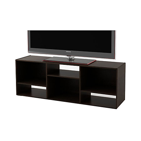 ameriwood tv stand for 60 tvs 21 14 h x 60 78 w x 15 58 d black forest by office depot officemax. Black Bedroom Furniture Sets. Home Design Ideas