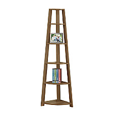 Monarch Specialties 5 Shelf Corner Bookshelf