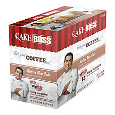 Cake Boss Coffee K Cups Italian
