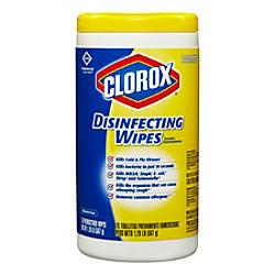 Clorox Disinfecting Wipes Lemon Scent 75