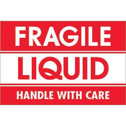 Tape Logic Preprinted Labels Fragile Liquid
