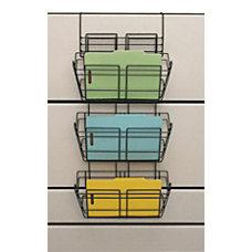 Safco Panelmate Triple Tray Basket