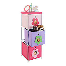Altra Fabric Kids Storage Unit Flower