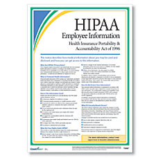 ComplyRight HIPAA Employee Information Poster English