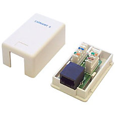 StarTechcom Single Cat5e RJ45 Wall Jack
