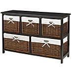 Realspace Wood Storage Cabinet 2 Shelves
