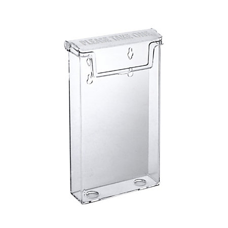 Azar Displays Styrene Outdoor Trifold Brochure Holders 9 H X 4 12 W X1 34 D Clear Pack Of 2 By
