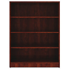 Lorell Cherry Laminate Bookcase 48 Height