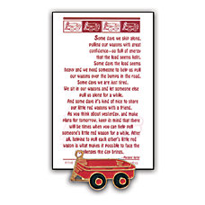 Little Red Wagon Lapel Pin 1