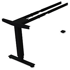 Lorell SitStand Desk Black Third leg