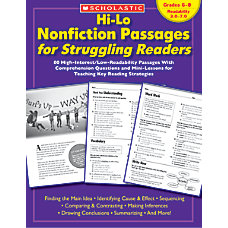 Scholastic Hi Lo Nonfiction Passages Grades