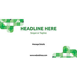 Custom Horizontal Banner Green Abstract