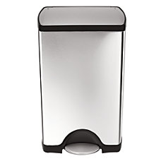 simplehuman Rectangular Brushed Stainless Steel Step
