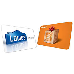 15 Home Depot or Lowes eGift Card by fice Depot & ficeMax