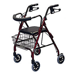 Guardian Deluxe Rollator 6 Wheels Burgundy