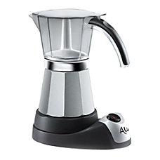 DeLonghi Electric Moka Espresso Maker BlackStainless