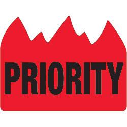 Tape Logic Flame Labels Priority Bill