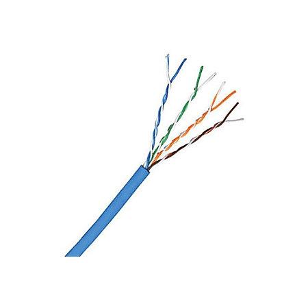 comprehensive cat 5e 350mhz solid blue bulk cable 1000ft