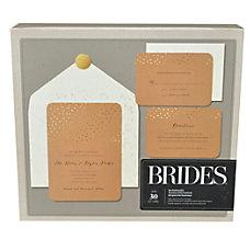 BRIDES Foil Invitation Kit Gold Dot