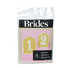 BRIDES Rustic Chic Table Numbers 1