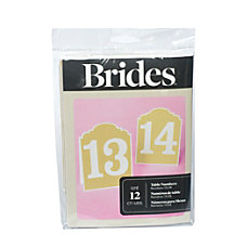 BRIDES Rustic Chic Table Numbers 13