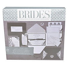 BRIDES Premium BlackWhite Invitation Kit 5