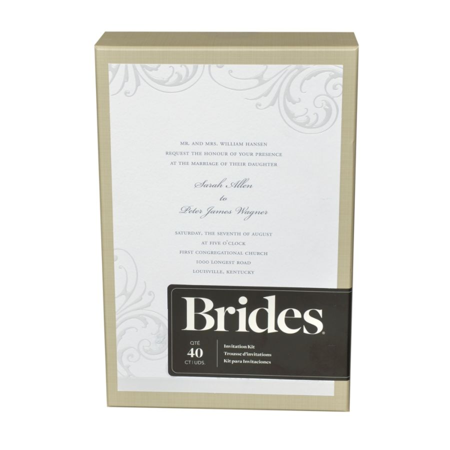 BRIDES White Wisp Invitation Kit by Office Depot OfficeMax