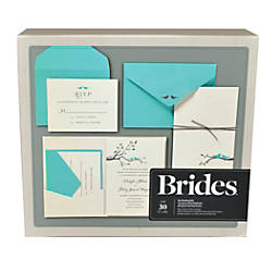 Brides premium invitation kit 5 w x 7 h love birds pack of for Wedding invitations kits office depot