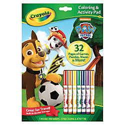 Crayola Paw Patrol Coloring Activity Pad