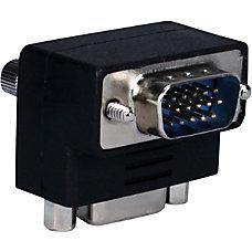 QVS VGA HD15 Down Angle Male