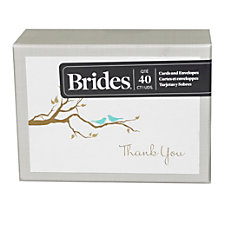 BRIDES Thank You Cards With Envelopes