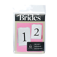 BRIDES Ornate Table Numbers 1 12