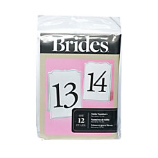 BRIDES Ornate Table Numbers 13 24