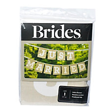 BRIDES Just Married Banner 7 Brown