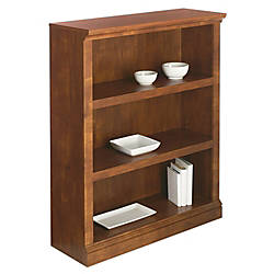 Realspace Premium Bookcase 3 Shelf Brushed