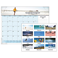 AT A GLANCE Motivational Panoramic Monthly