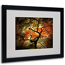 Trademark Global Japanese Matted Framed Canvas